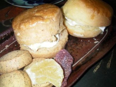 scorns with clotted cream