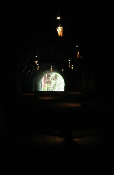 An art project at Old tunnels